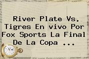 River Plate Vs. Tigres En <b>vivo</b> Por <b>Fox Sports</b> La Final De La Copa <b>...</b>