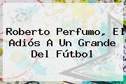 <b>Roberto Perfumo</b>, El Adiós A Un Grande Del Fútbol