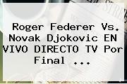 <b>Roger Federer</b> Vs. Novak Djokovic EN VIVO DIRECTO TV Por Final <b>...</b>