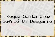 <b>Roque Santa Cruz</b> Sufrió Un Desgarro