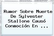 Rumor Sobre Muerte De <b>Sylvester Stallone</b> Causó Conmoción En ...