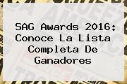 <b>SAG Awards 2016</b>: Conoce La Lista Completa De Ganadores