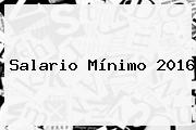 <b>Salario Mínimo 2016</b>