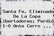 <b>Santa Fe</b>, Eliminado De La Copa Libertadores: Perdió 1-0 Ante Cerro <b>...</b>