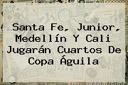 Santa Fe, Junior, Medellín Y Cali Jugarán Cuartos De <b>Copa Águila</b>
