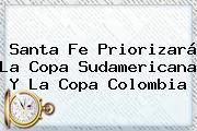 <b>Santa Fe</b> Priorizará La Copa Sudamericana Y La Copa Colombia