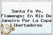 Santa Fe Vs. Flamengo: En Río De Janeiro Por La <b>Copa Libertadores</b>