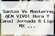 <b>Santos Vs Monterrey</b> ¡EN VIVO! Hora Y Canal Jornada 6 Liga MX <b>...</b>