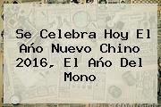 Se Celebra Hoy El <b>Año Nuevo Chino 2016</b>, El Año Del Mono