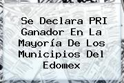 Se Declara PRI Ganador En La Mayoría De Los Municipios Del Edomex
