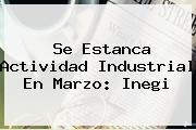 Se Estanca Actividad Industrial En Marzo: <b>Inegi</b>