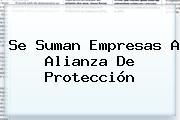 Se Suman Empresas A Alianza De <b>Protección</b>