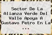 Sector De La Alianza Verde Del Valle Apoya A Gustavo <b>Petro</b> En La ...