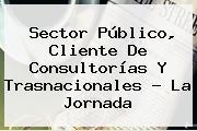Sector Público, Cliente De Consultorías Y Trasnacionales ? La Jornada