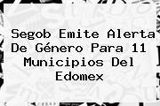 Segob Emite Alerta De Género Para 11 Municipios Del <b>Edomex</b>