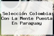 Selección <b>Colombia</b>: Con La Mente Puesta En <b>Paraguay</b>