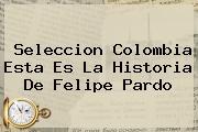 Seleccion Colombia Esta Es La Historia De <b>Felipe Pardo</b>