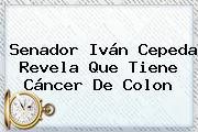 Senador <b>Iván Cepeda</b> Revela Que Tiene Cáncer De Colon