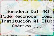 Senadora Del PRI Pide Reconocer Como Institución Al <b>Club América</b> ...