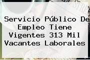 <b>Servicio</b> Público De <b>Empleo</b> Tiene Vigentes 313 Mil Vacantes Laborales