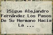 ¿Sigue <b>Alejandro Fernández</b> Los Pasos De Su Hermano Hacia La <b>...</b>