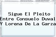 Sigue El Pleito Entre Consuelo Duval Y <b>Lorena De La Garza</b>