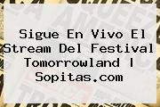 Sigue En Vivo El Stream Del Festival <b>Tomorrowland</b> | Sopitas.com