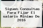 Siguen Consultas Para Fijar El <b>salario Mínimo</b> De <b>2016</b>