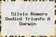 Silvio Romero Dedicó Triunfo A Darwin