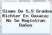 <b>Sismo</b> De 5.5 Grados Richter En Oaxaca; No Se Registran Daños