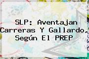 <b>SLP</b>: Aventajan Carreras Y Gallardo, Según El <b>PREP</b>