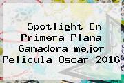 Spotlight En Primera Plana Ganadora <b>mejor Pelicula Oscar 2016</b>