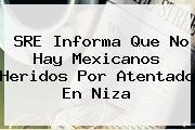 SRE Informa Que No Hay Mexicanos Heridos Por Atentado En <b>Niza</b>