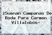¿Suenan Campanas De Boda Para <b>Carmen Villalobos</b>?