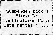Suspenden <b>pico Y Placa</b> De Particulares Para Este Martes Y <b>...</b>
