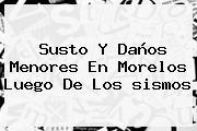 Susto Y Daños Menores En Morelos Luego De Los <b>sismos</b>