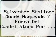 <b>Sylvester Stallone</b> Quedó Noqueado Y Fuera Del Cuadrilátero Por ...