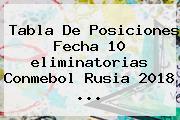 Tabla De Posiciones Fecha 10 <b>eliminatorias Conmebol Rusia 2018</b> ...