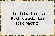 Tembló En La Madrugada En Rionegro