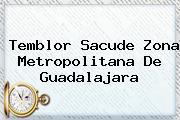 <b>Temblor</b> Sacude Zona Metropolitana De <b>Guadalajara</b>