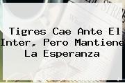 <b>Tigres</b> Cae Ante El <b>Inter</b>, Pero Mantiene La Esperanza