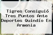 Tigres Consiguió Tres Puntos Ante Deportes Quindío En Armenia