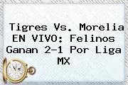 <b>Tigres Vs</b>. <b>Morelia EN VIVO</b>: Felinos Ganan 2-1 Por Liga MX