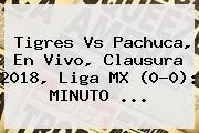 <b>Tigres Vs Pachuca</b>, En Vivo, Clausura 2018, Liga MX (0-0): MINUTO ...