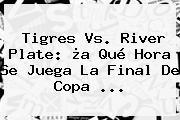 <b>Tigres Vs</b>. <b>River</b> Plate: ¿a Qué Hora Se Juega La Final De Copa <b>...</b>