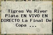 <b>Tigres Vs River</b> Plate EN VIVO EN DIRECTO La Final De Copa <b>...</b>