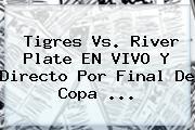 <b>Tigres Vs</b>. <b>River</b> Plate EN VIVO Y Directo Por Final De Copa <b>...</b>