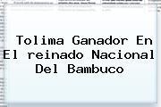 Tolima Ganador En El <b>reinado Nacional Del Bambuco</b>
