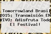 <b>Tomorrowland</b> Brasil 2015: Transmisión EN VIVO; ¡disfruta Todo El Festival!