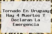 <b>Tornado En Uruguay</b>: Hay 4 Muertos Y Declaran La Emergencia